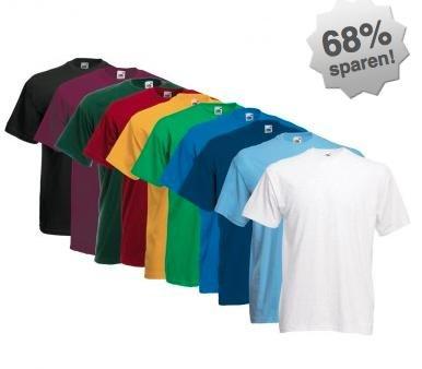 [Billigarena] Fruit of the Loom T-Shirt im 5er (verschiedene Farbkombis) für 7,90€ inkl. Versand statt  15€