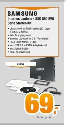 [Expert alle Gruppen.Bundesweit] Samsung SSD 850 Evo 250GB inc.Starter-Kit für 69 Euro**Update***Auch die Technikmarktgruppe zieht mit. Offiziell in allen Expert Märkten Deutschlands erhältlich