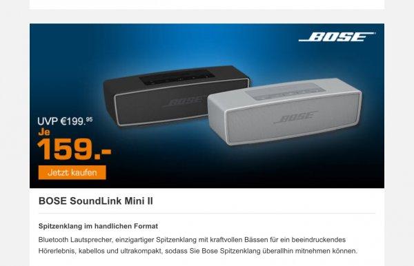 [SATURN] Bose Soundlink Mini II für 154 Euro