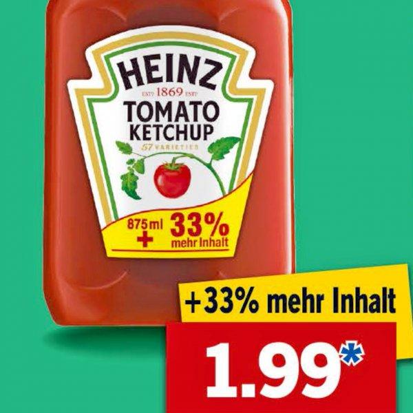 Heinz Ketchup in der Sondergröße 1170 ml für 1,99 € ab 11.02. bei [ Lidl ]