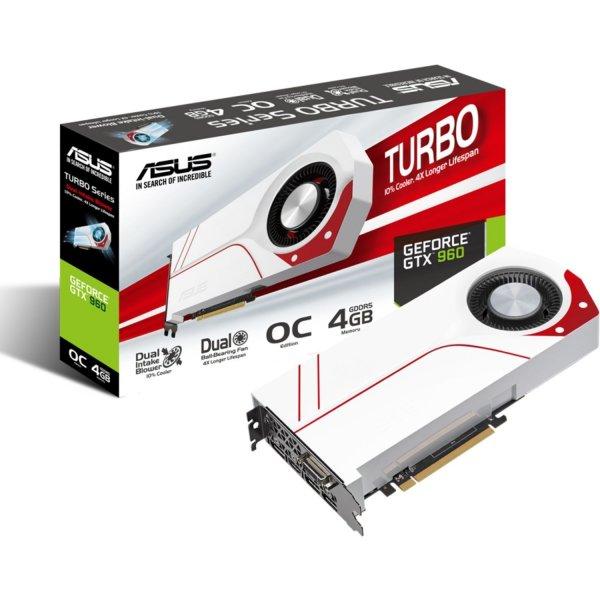 ASUS TURBO-GTX960-OC-4GD5, GeForce GTX 960, 4GB GDDR5, DVI, HDMI, 3x DisplayPort für 199,99€ bei ebay/Alternate