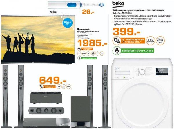 [Lokal Sammeldeal Gelsenkirchen] u.a. Panasonic TX-65CRW734 4K, Curved, Smart TV für 1985€, PVG: 2149€ @Saturn