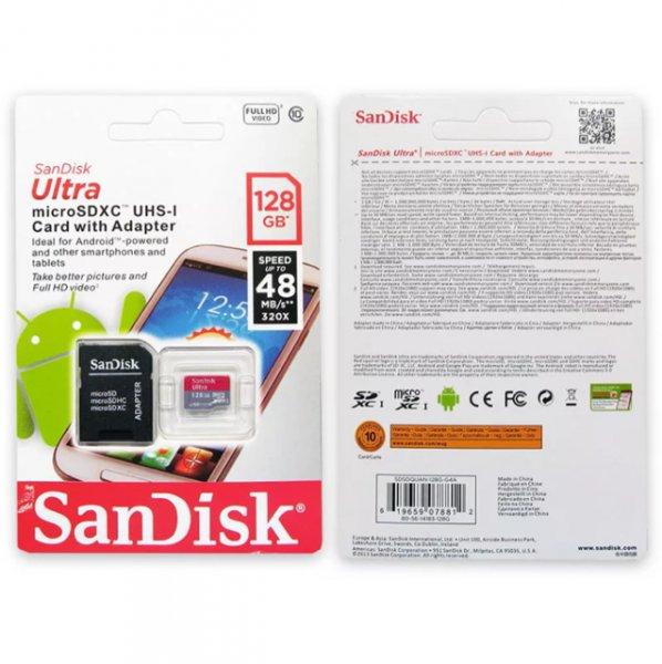 Sandisk Ultra Micro SDXC 128gb UHS-1 / 48mb/s