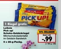 [Kaufland in vielen Filialen aber nicht Bundesweit] Ab Montag...Leibniz Pick Up.6 Riegel für 0,99€