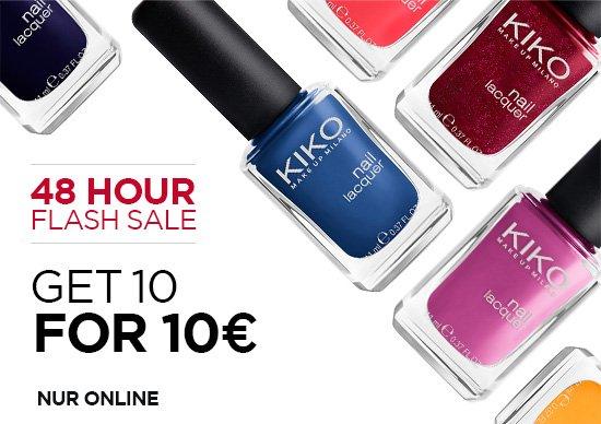 KIKO 10 Nagellacke für 10€. (Online)