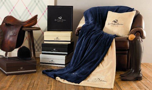 Luxusdecke Tagesdecke Decke *Royal Berkshire* Polo Club,150x200cm @ Woolworth für 29,99€ offline