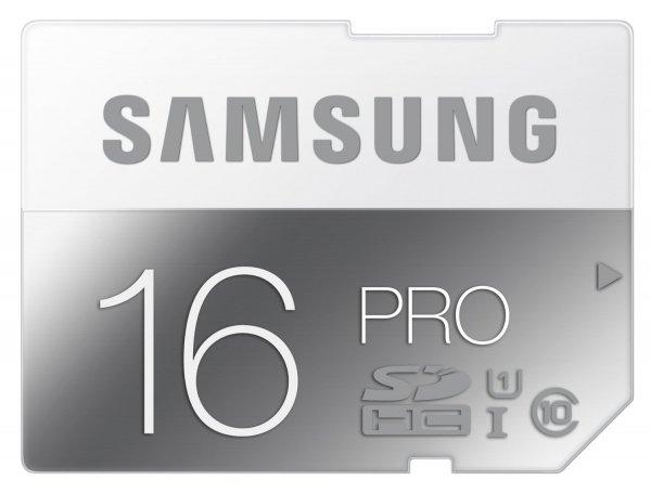 Samsung 16GB PRO SD-Karte für 6,89