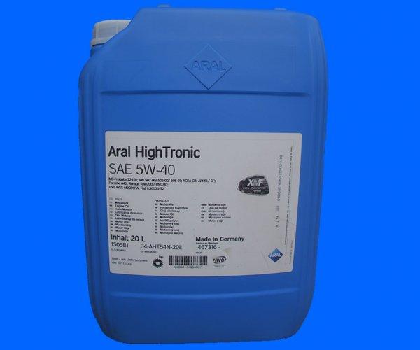 Aral Motoröl ab 3,71€/L (z.B. 20 Liter Aral HighTronic 5W-40 für 74,27€)
