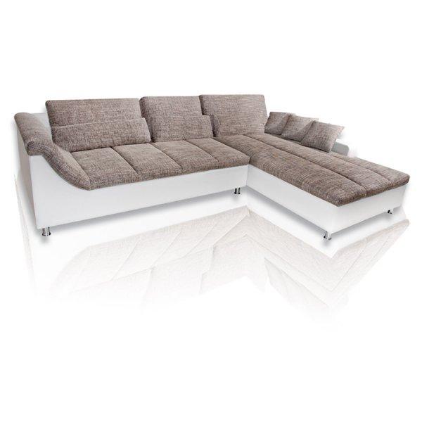 [ebay WOW] ROLLER Ecksofa - Kunstleder weiß / grau für 549,99 € inkl. Versand bis in die Wohnung statt 899 €