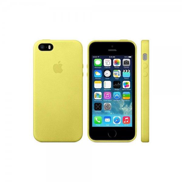 @Amazon - Apple iPhone 5s Backcover aus Leder gelb blau beige (50% billiger als der Mobilcom Deal)