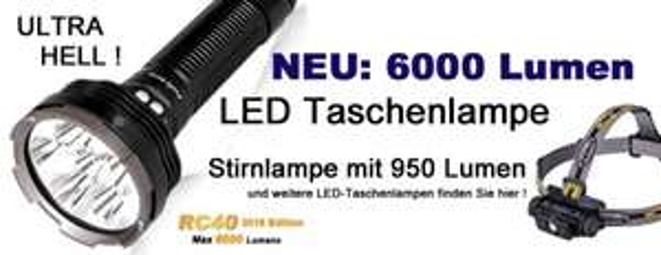 Akkushop - Gute Preise auf diverse Fenix LED Taschenlampen - Angler & Jäger aufgepasst!
