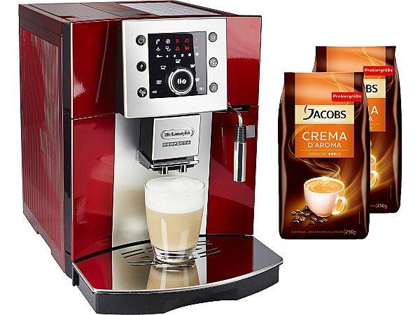 [ekinova][Otto-Kunden] De Longhi Kaffeevollautomat Perfecta ESAM 5400 in rot + 2 Pakete JACOBS Kaffeebohnen für Otto-Kunden nur 354,95€ (bis zu 28% Ersparnis)