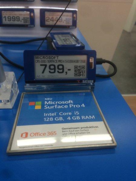 [Lokal Saturn Nürnberg] Microsoft Surface Pro 4 i5-6300U / 4GB RAM / 128GB