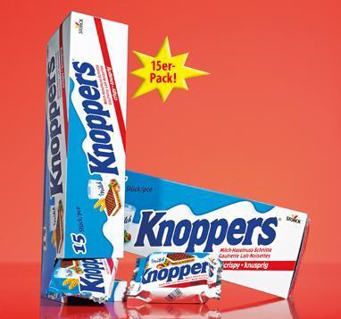 Knoppers 15er-Vorratspack 375g für 2.79€ bei Penny.
