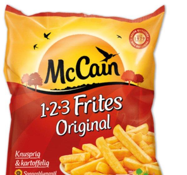 [COMBI/JIBI/MINIPREIS] McCain 1-2-3 Frites Original 750g für 0,79€ (Angebot+Coupon)