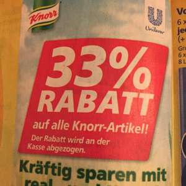 33% auf alle Knorr-Artikel (Real,-) ab 8.2.16