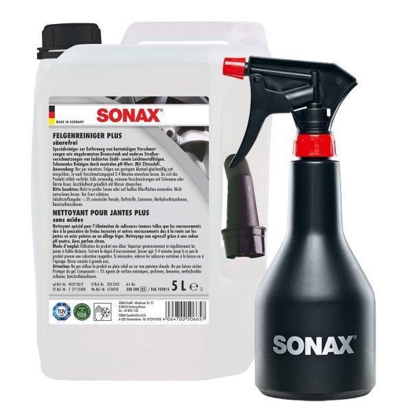 (eBay) SONAX FelgenReiniger PLUS 5L 230500 + GRATIS Sprühboy Sprühflasche 499700 für 34,95€