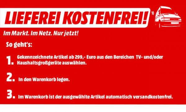 [MediaMarkt] Kostenlose Lieferung von TV- und/oder Haushaltsgroßgeräten ab 299€ | Online & im Markt