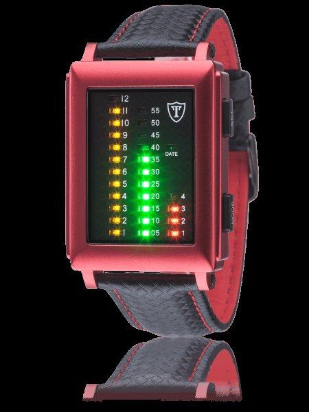 DETOMASO SPACY TIMELINE RECTANGULAR Binär-Armbanduhr in ROT für 50 EUR VSKF
