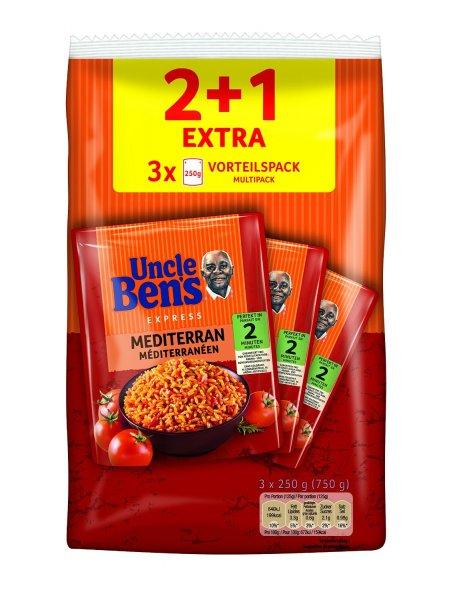 Amazon Prime : Uncle Ben's Express 4 plus 2 Vorteilspack ( Sorten Mediterran &Mexikanisch) , 2er Pack (2 x 750 g) - Nur 7,56 €
