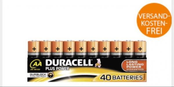 @saturn DURACELL PLUS POWERAA | 40er Pack | bei 2 Packungen für 30,98€