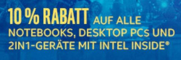 [redcoon.de] 10% Rabatt auf Desktops, Notebooks, Laptops und 2in1 mit Intel-CPU
