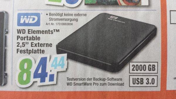 [Schweinfurt] WD Portable 2,5 2TB USB3.0