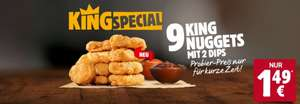 [KING SPECIAL] 9er King Nuggets inkl. 2 Dips für 1,49€ - ab Mittwoch, 10.02. bei Burger King