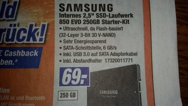 [Expert Klein] Samsung 850 Evo 250GB SSD Starter Kit