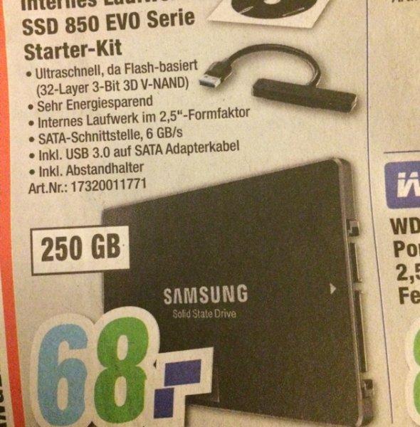 (Lokal) Samsung SSD 850 EVO Starter Kit 250 GB
