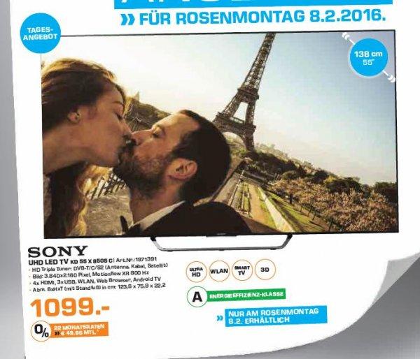 """[Saturn] Tagesangebot Sony KD55X8505C 55"""" Fernseher als Tagesangebot an Rosenmontag für 1099,-€ bei Saturn Leverkusen"""