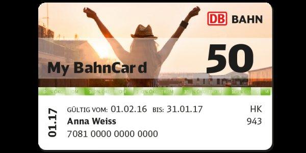 Bahncard 50 für 69€ anstatt 127 Euro für unter 27-jährige