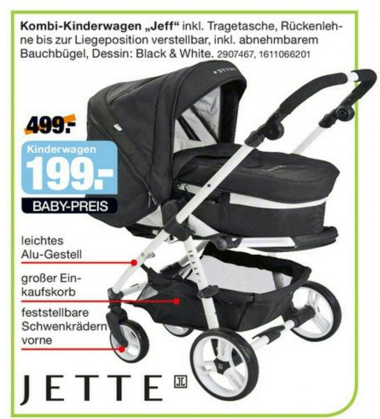 Lokal Segmüller Parsdorf JETTE Jeff Kombikinderwagen schwarz-weiß