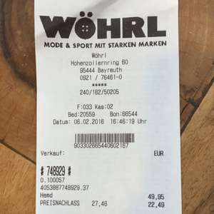 DEAL! Olymp Level 5, Luxor (auch extra lange Arme) bei Wöhrl Bayreuth