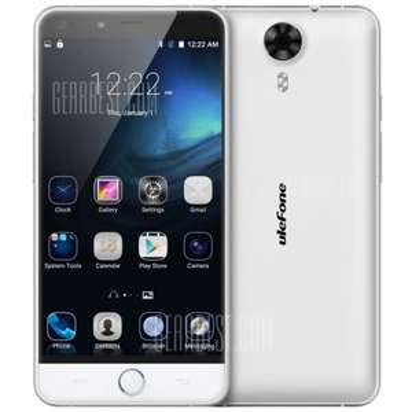 Ulefone Be Touch 3 (weiß) 64bit Octacore 3GB Ram 16GB Speicher  LTE (800/1800/2600) Fingerabdrucksensor Akku wechselbar Speicherkartenslot