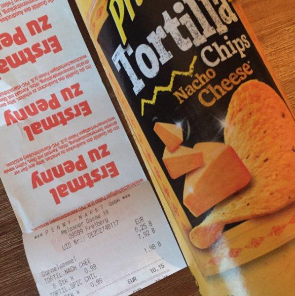 Penny Freiberg Pringles 0,99 Euro Tortilla Chips Restbestände evtl. Lokal