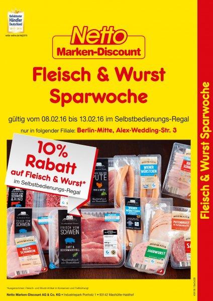 [BERLIN-Mitte] NETTO 10% auf Fleisch und Wurst