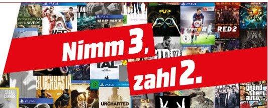 [MM Bielefeld] Nimm 3 für 2 auf ALLE CDs, DVDs, BluRays und Spiele.