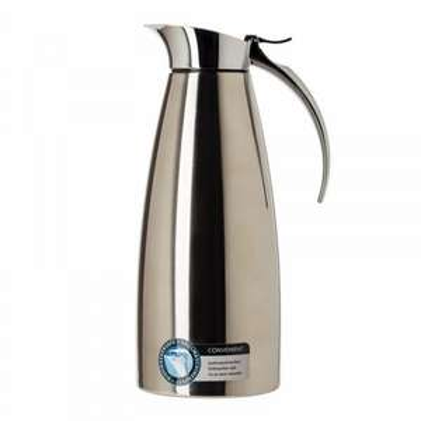 Emsa 502664 Isolierkanne, Thermoskanne, Edelstahl, 1.3 Liter, Easy Open Verschluss, 22% Ersparniss