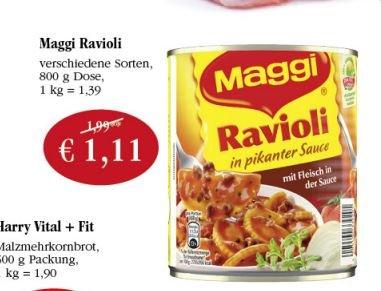 [Sky] 5x Maggi Ravioli 3,55€ (0,71€ pro Dose) durch 2€ Gutschein ab Donnerstag