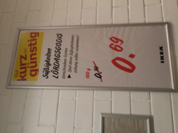 Lokal IKEA Köln Am Butzweiler Hof SB Süßigkeiten nr 0,69€/100g