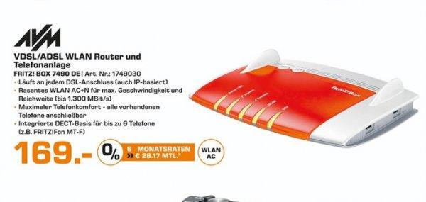 (Lokal) AVM FRITZ!Box 7490 für 169 @ Saturn Essen,Mühlheim,Oberhausen (11.02.16)