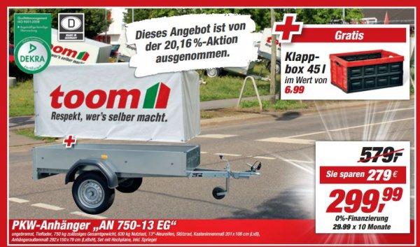 lokal toom baumarkt chemnitz anh nger 750 kg mit plane spriegel 299 25 ersparnis gratis. Black Bedroom Furniture Sets. Home Design Ideas