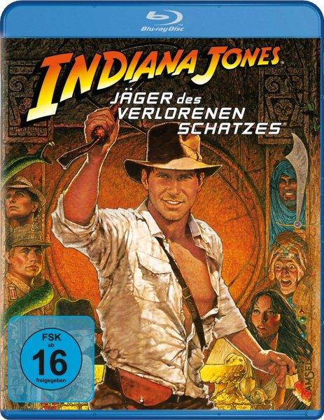 Indiana Jones 1 - Jäger des verlorenen Schatzes Blu-ray 4,95€ mit Prime oder + 3€ Versandkosten bzw. ein Buch