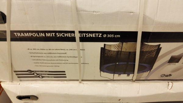 [Lokal Berlin] POCO 305 cm Trampolin mit Sicherheitsnetz