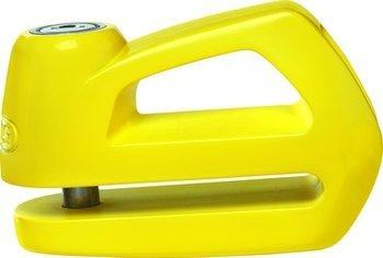Abus 10559686 Element 290 Bremsscheibenschloss (gelb) für Motorräder und Scooter