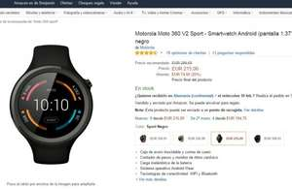 Motorola Moto 360 Sport - Smartwatch - bei Amazon.es