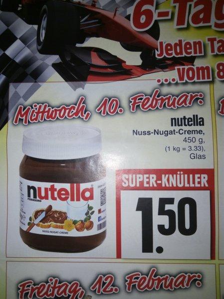 nutella 450g Glas 1,50€ (Edeka in Mittenaar-Offenbach)