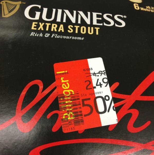 Guinness Bier bei Kaufland Hamburg lurup 6 Flaschen nur 2,49€