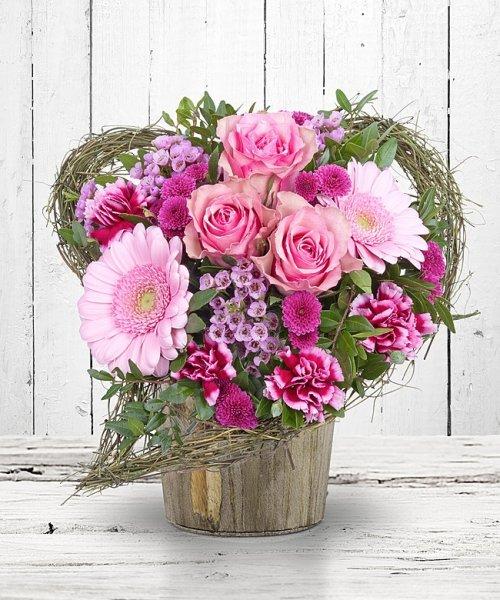 Von Herzen Blumenstrauß von Valentins zum Valentinstag für 15,74€